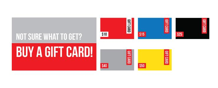 Not sure what to get? buy a gift card!