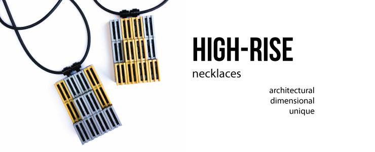 HIGH-RISE 3D pendant necklaces