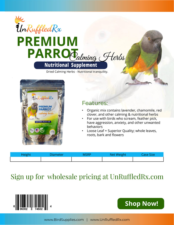 Calming Herbs for Parrots Sell Sheet