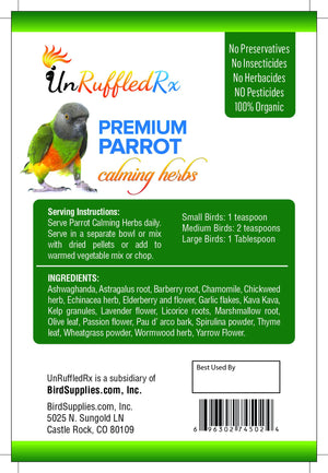 UnRuffledRx Calming Herbs for Parrots