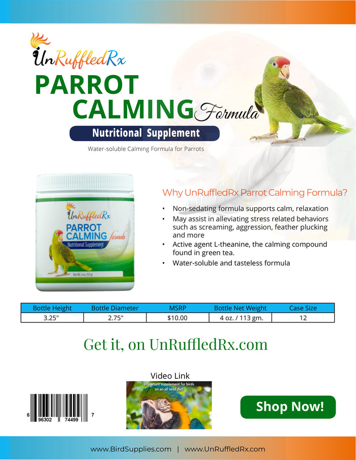Parrot Calming Formula Sell Sheet