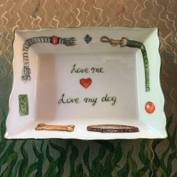 2735  tray -Love me ❤️ Love my dog