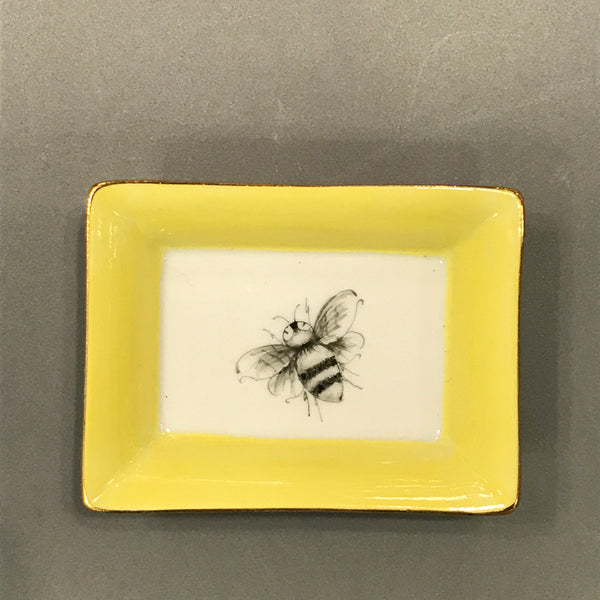 tray bee black and white