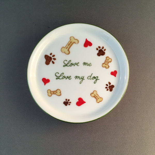 3474  paws coaster-love me love my dog