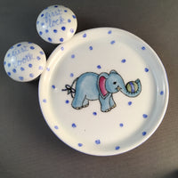 Elephant-blue tooth and lock