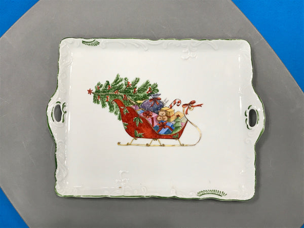 3831 TRAY with lg. sleigh