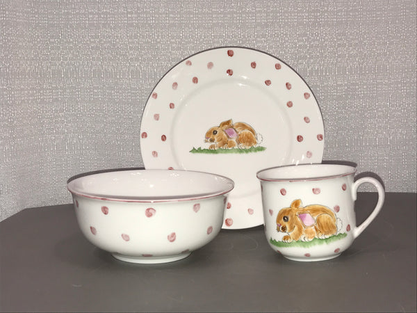 5136- 3pc.feeding set-BUNNY