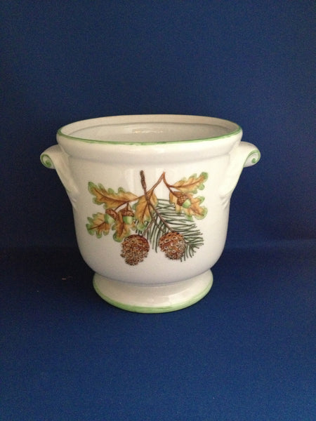 PINE AND ACORNS CACHE POT