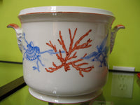 5542-cache pot-coral and sea shells
