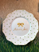 7074 personalized   bow and dot plate