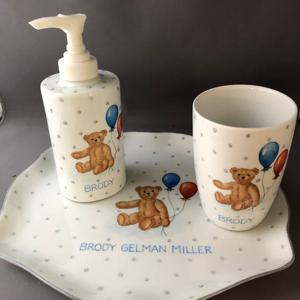 teddy bath set