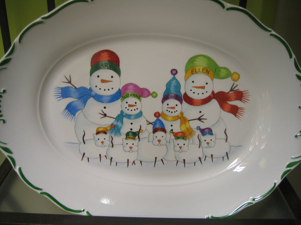 4879 SNOWFAMILY with dogs and cats