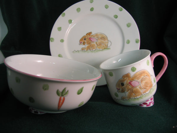 *5136 3pc feeding set-BUNNY