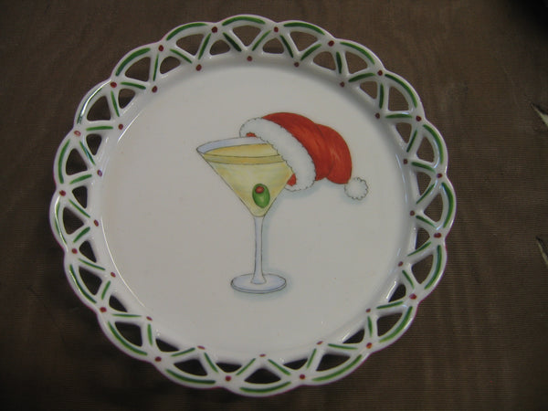 6103-martini with Santa cap
