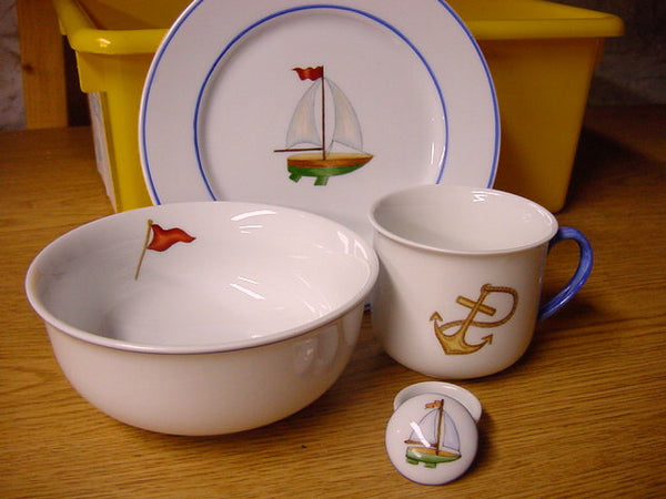 5136-3pc. feeding set-Sail Boat