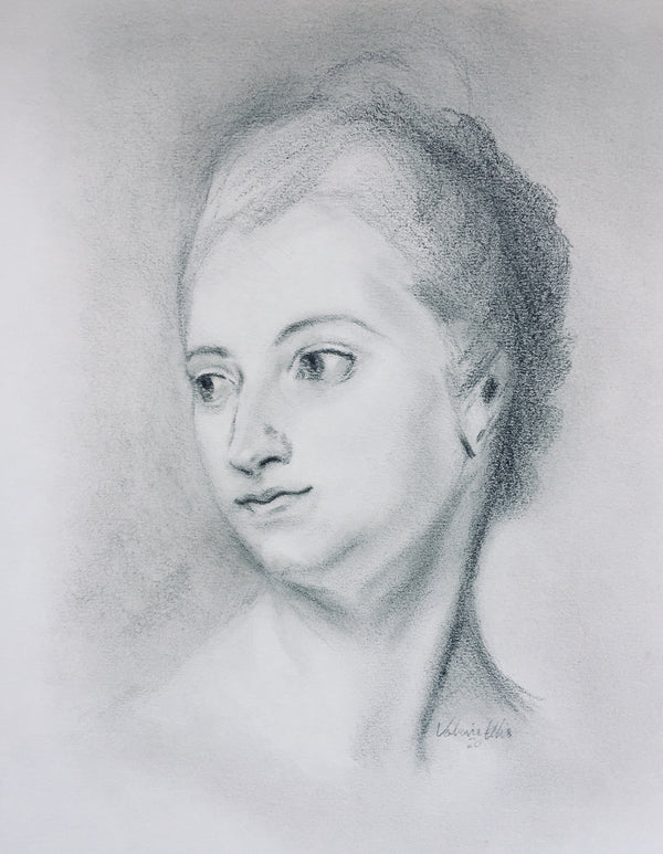 Madame du Pompadour Original Drawing