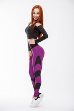 Load image into Gallery viewer, Qarddo Leggings Stingray Violet Women's High Waist Second Skin