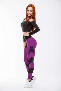 Qarddo Leggings Stingray Violet Women's High Waist Second Skin