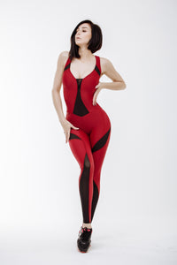 "Jumpsuit for Workout ""MySexySkin""-Red"
