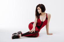 "Load image into Gallery viewer, Jumpsuit for Workout ""MySexySkin""-Red"