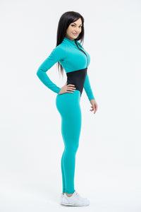Spotrs Jumpsuit Arcana Mint Long Sleevs