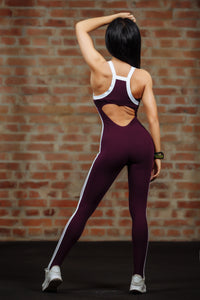 Qarddo Tight Sports Jumpsuit Grape