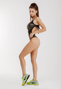 "One Piece Swimsuit ""Military"""