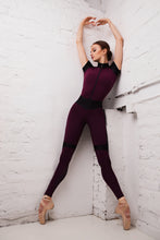 "Load image into Gallery viewer, Jumpsuit for Workout ""BodyCorrect"" Purple"