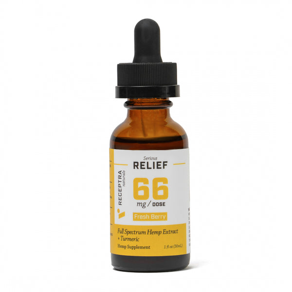 Receptra Serious Relief + Turmeric Tincture 66mg/dose (1oz)