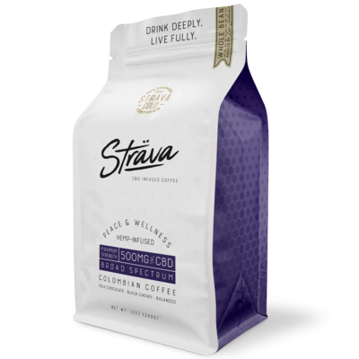 Strava CBD Infused Coffee 500mg 12oz Bag Elevate
