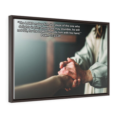 The Lord Makes Firm The Steps Wrap Canvas