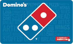 Super Deals: Dominos Pizza E-Gift Card
