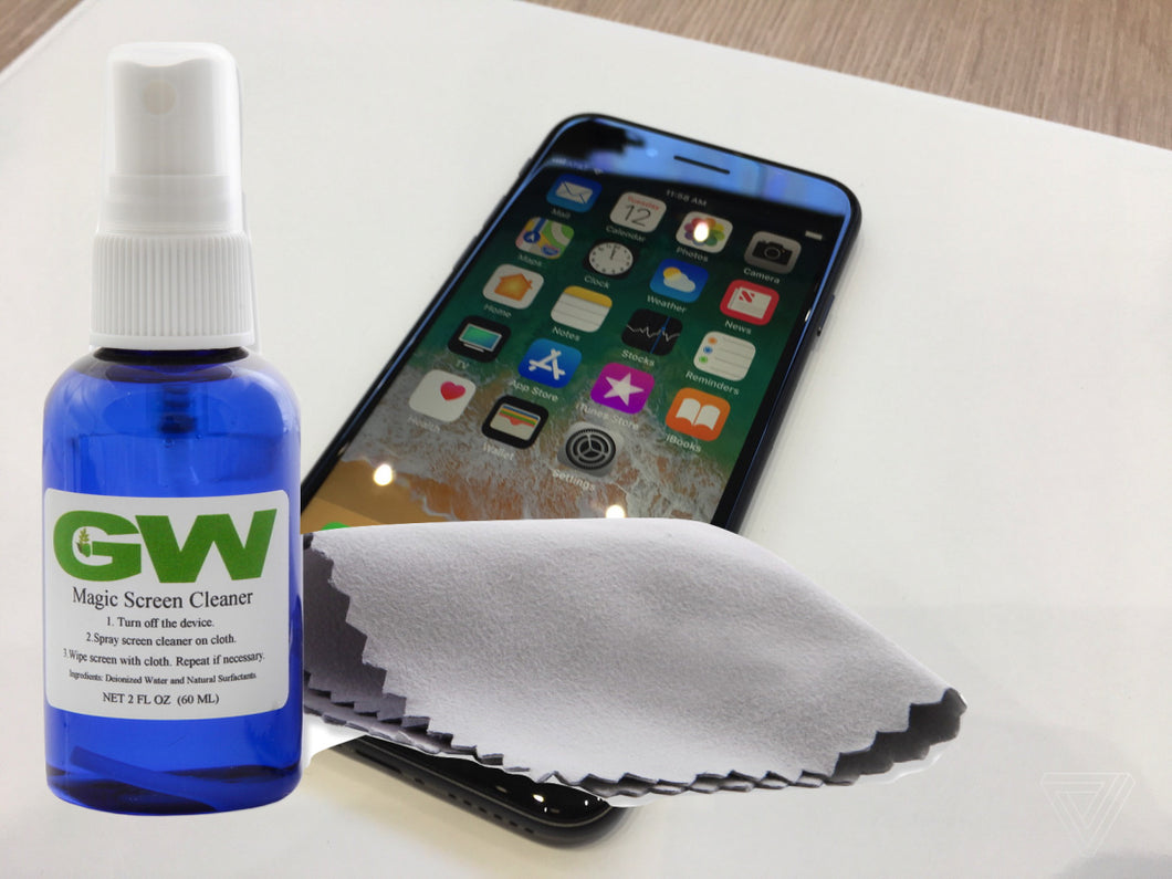 Super Deals: GW MAGIC Screen Disinfectant Cleaner Kit For Cell Phones with Microfiber Cloths