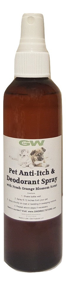 GW Pet Anti-Itch & Deodorant Spray with Orange Jasmine Blossom Scent Case (16 Units)