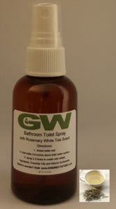 GW Before You Go Bathroom Odor Buster Toilet Spray with Rosemary White Tea Scent