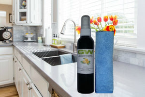GW Total House Cleaning Kit with Multi-Surface Cleaner and Premium Microfiber Cloth