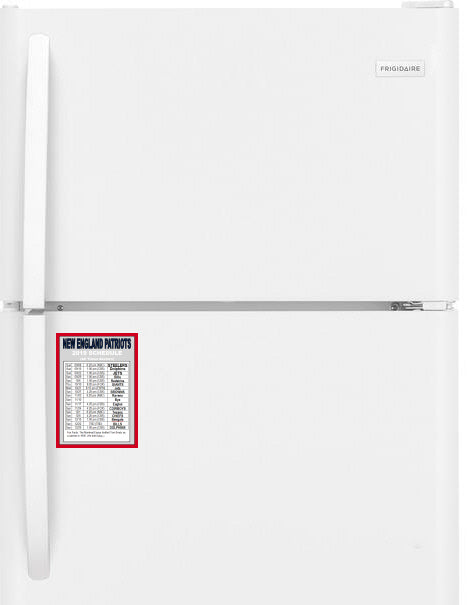 New England Patriots 2019 Schedule Fridge Magnet with TV Listings + Fun Fact