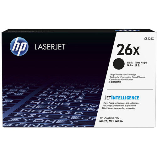 HP 26X Black LaserJet Toner Cartridge CF226X