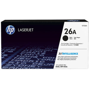 HP 26A Black LaserJet Toner Cartridge CF226A