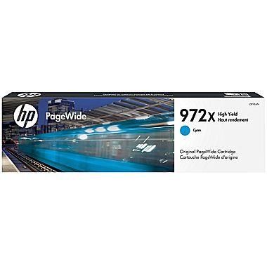 HP 972X (L0R98AN) High Yield Cyan Original PageWide Cartridge (7000 Yield)