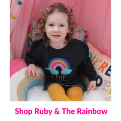 Personalised baby clothes and personalised baby gifts by Ruby and the Rainbow