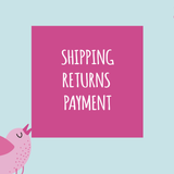 Ruby and the Rainbow Shipping Returns and Payment FAQ
