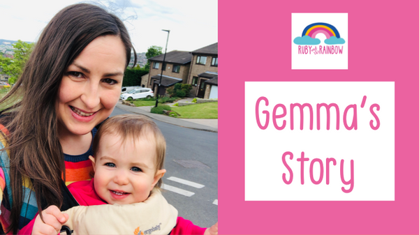Gemma's Rainbow Baby Story, Published by Ruby and the Rainbow #babylossawareness #BLAW2020