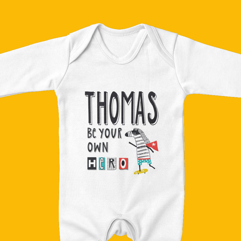Personalised baby gifts, including personalised babygrows, personalised baby vests and personalised baby T-shirts. We have personalised gifts for baby boys and personalised gifts for baby girls.