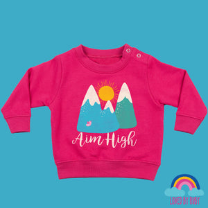 Toddler Jumper in Pink - Aim High Design - Ruby and the Rainbow