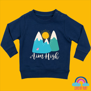 Toddler Jumper in Navy - Aim High Design - Ruby and the Rainbow