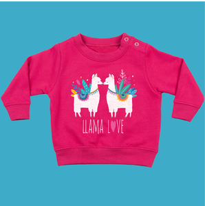 Toddler Jumper in Pink -Llama Love - Ruby and the Rainbow
