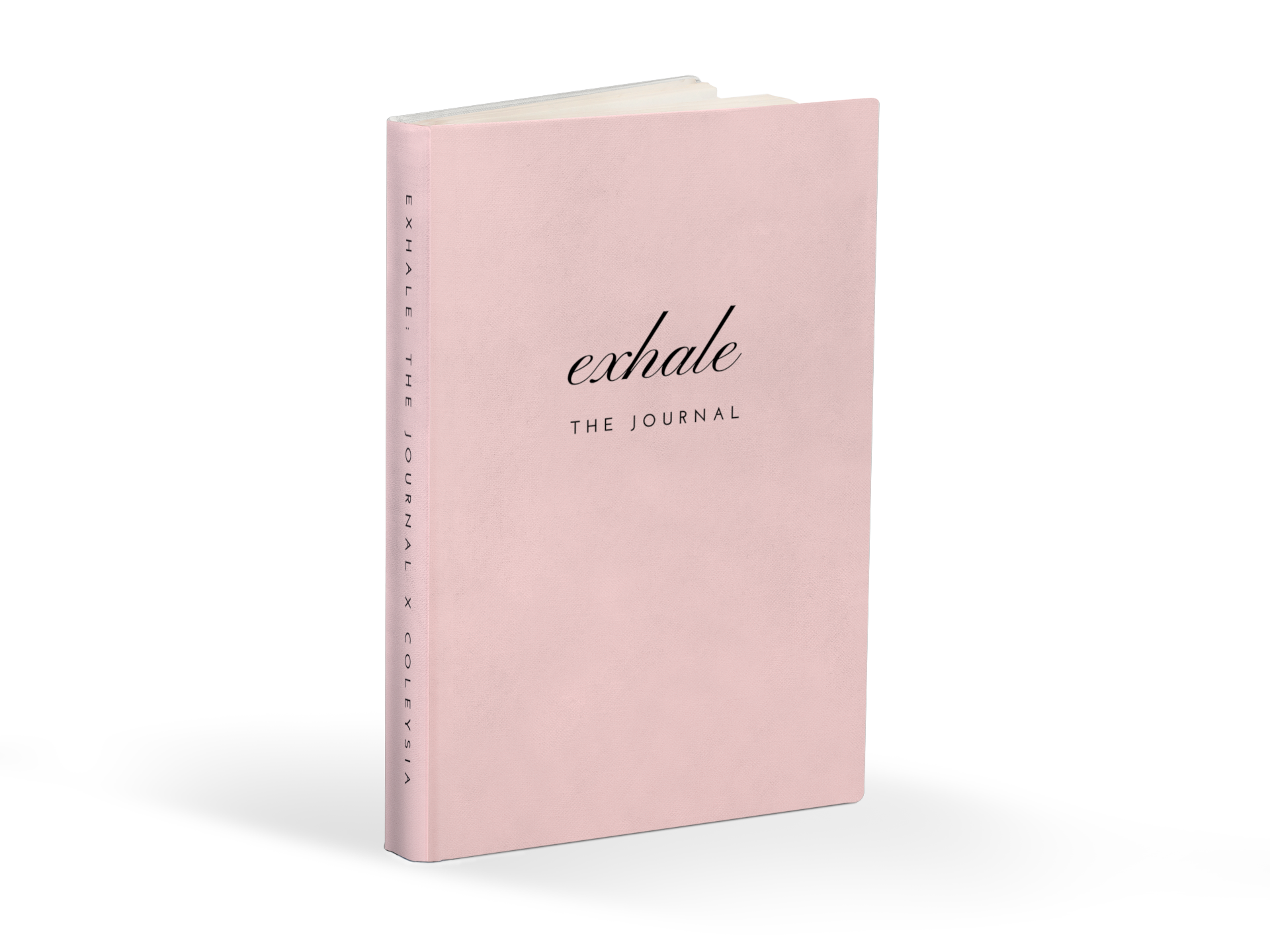 Exhale: The Journal in Blush Pink