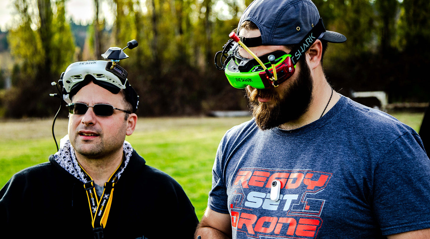 Joshua Bardwell and Paul Nurkkala Flying FPV Drones with FPV Goggles