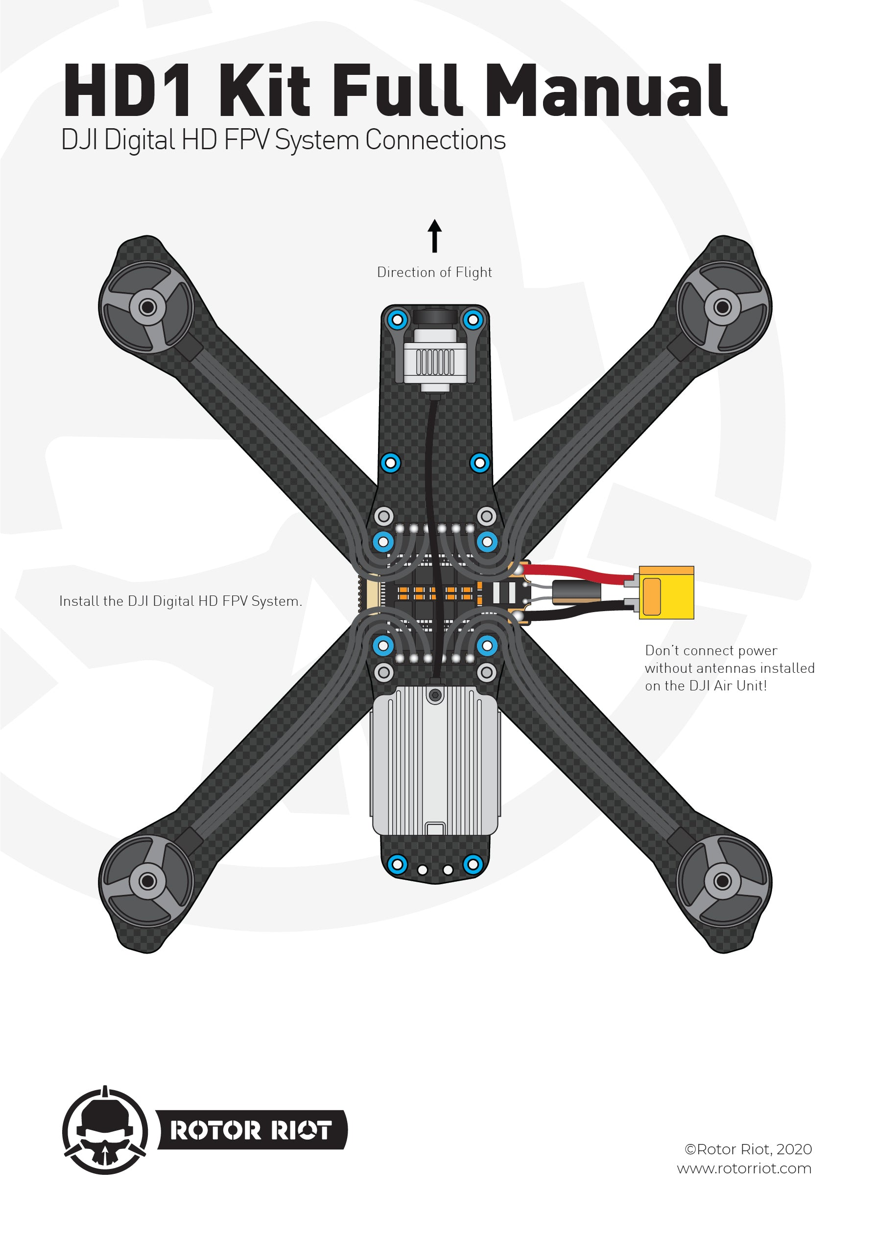 HD1 full manual FPV HD Drone Build Guide